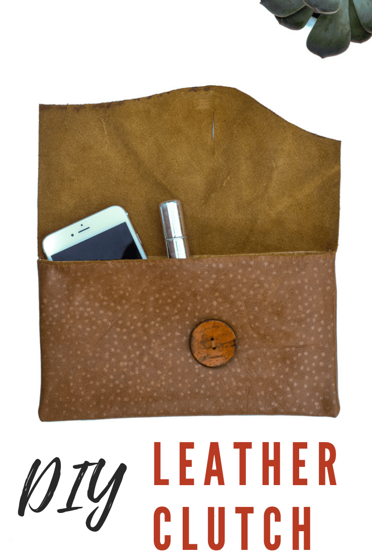 Leather DIY Clutch Purse 32