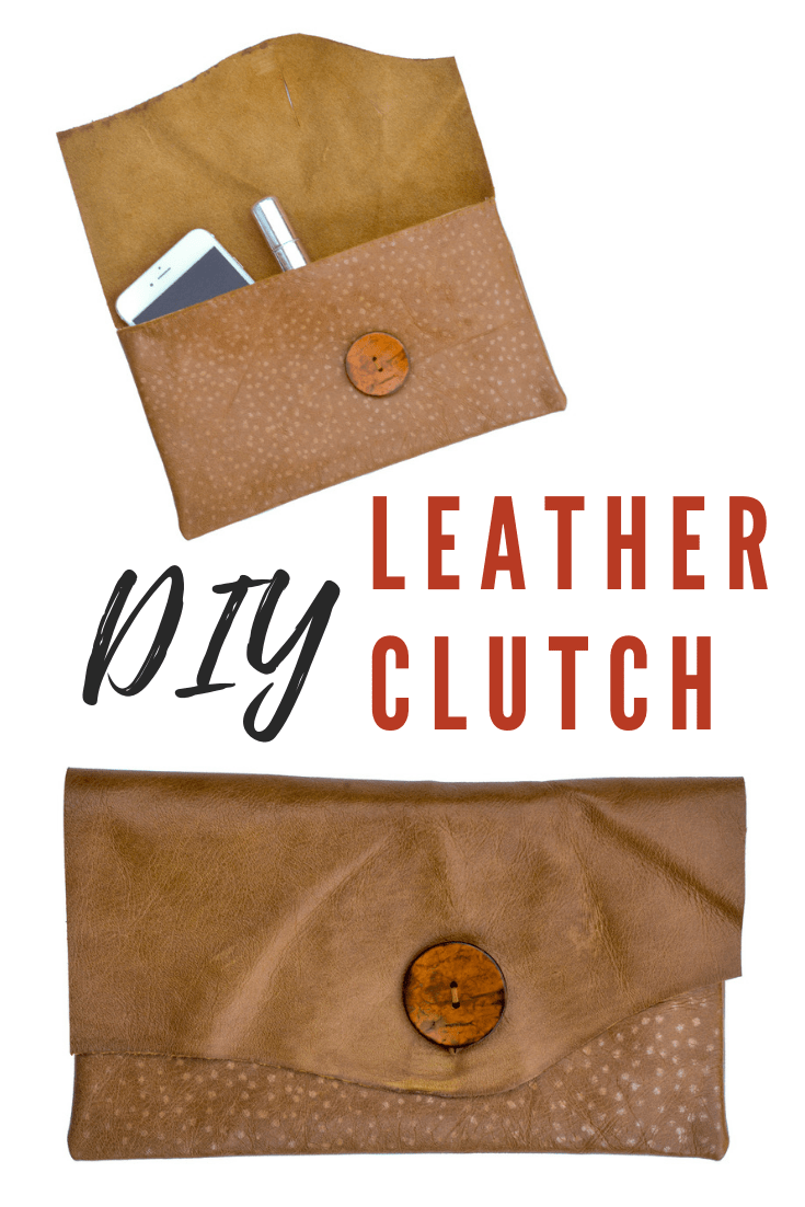 Leather DIY Clutch Purse 6