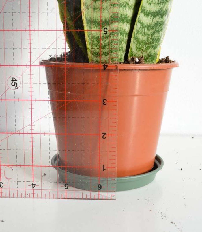 DIY leather plant pot holder 6