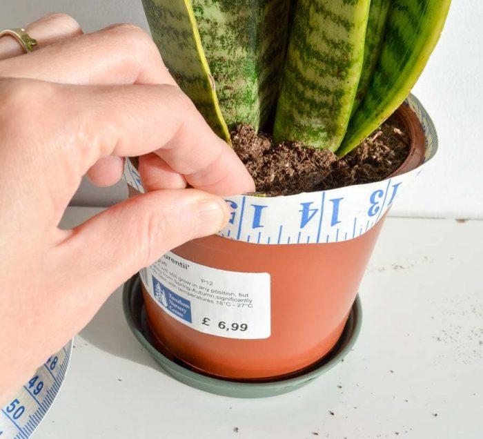 DIY leather plant pot holder 4