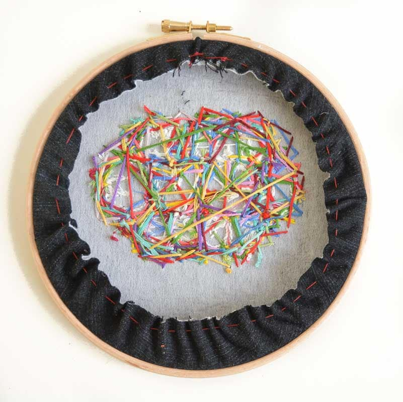 Denim Embroidery Hoop Art Tutorial 22
