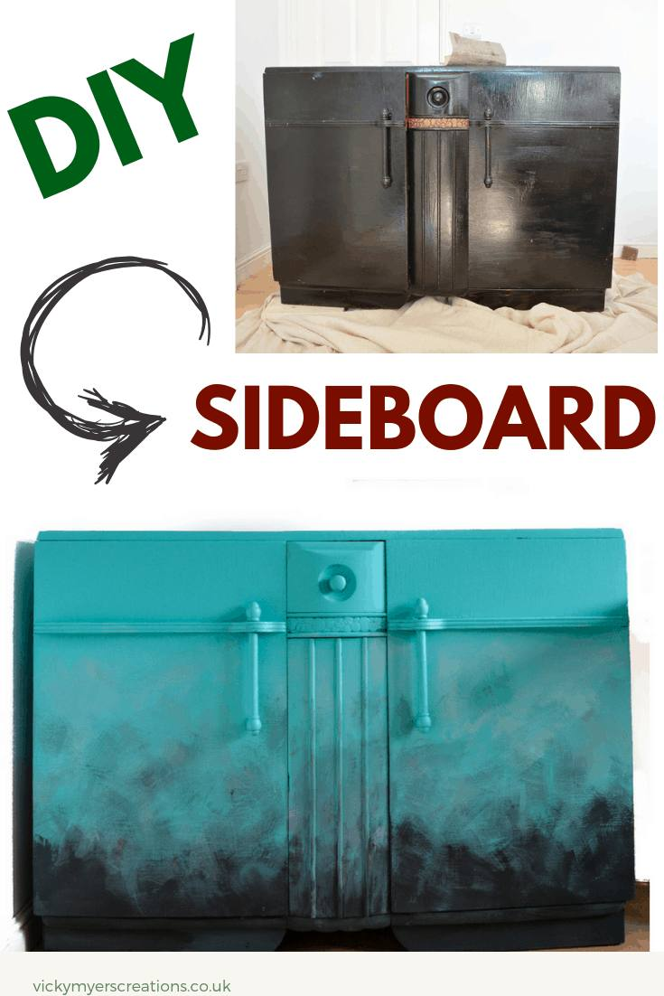 Stuck for ideas for your old sideboard? Use fusion mineral paint to create a stunning ombre effect, its easy! Have a go, photo and video tutorial sharing with you the before and after #upcycleideas #furnitureDIY