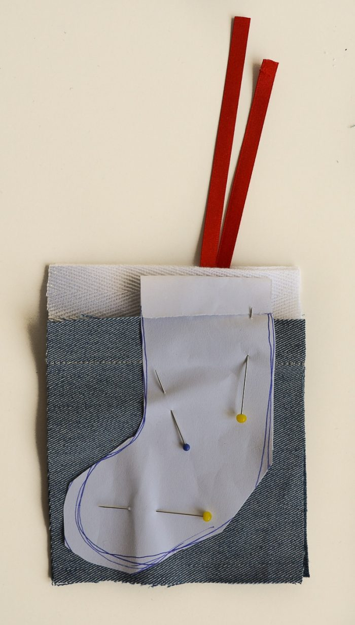 Denim DIY Mini Stocking Advent Calendar, Reusable Advent Calendar 10