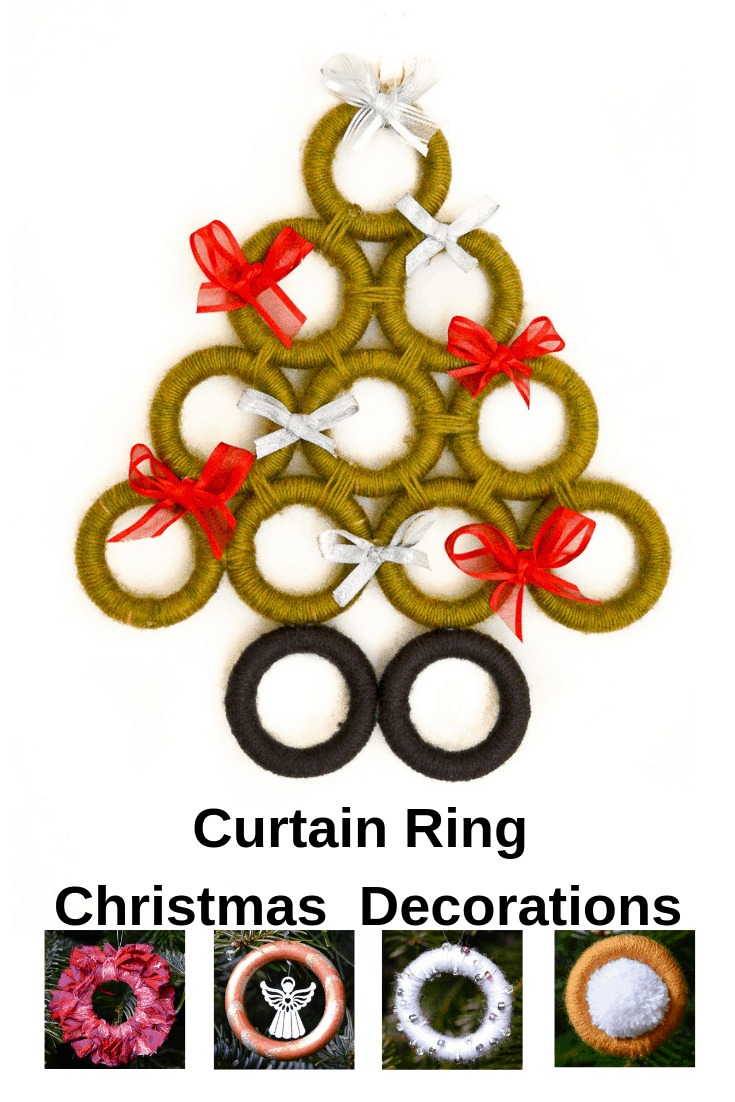 DIY Upcycled Christmas Decorations, upcycle curtain rings to make great Christmas decorations