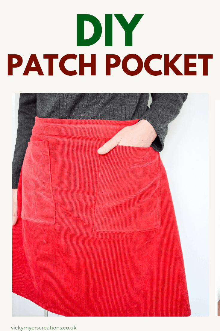 Do you see a garment of clothing, then work out how to sew your own? Learn how to pattern hack a skirt with large pockets. Make your own patch pockets with this easy tutorial #patchpockettutorial #patchpocketideas