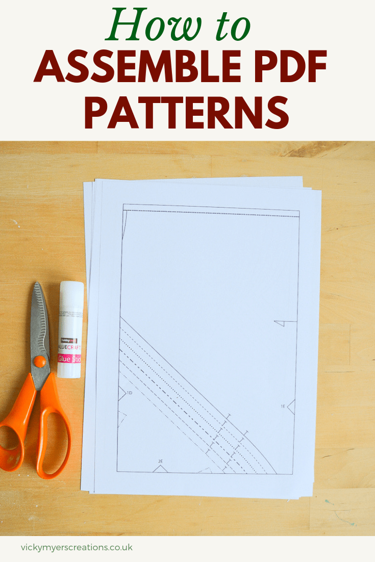 Did you know you can assemble PDF patterns without trimming? Check out my top tips for taping PDF patterns together, including a video tutorial #PDFpatterns