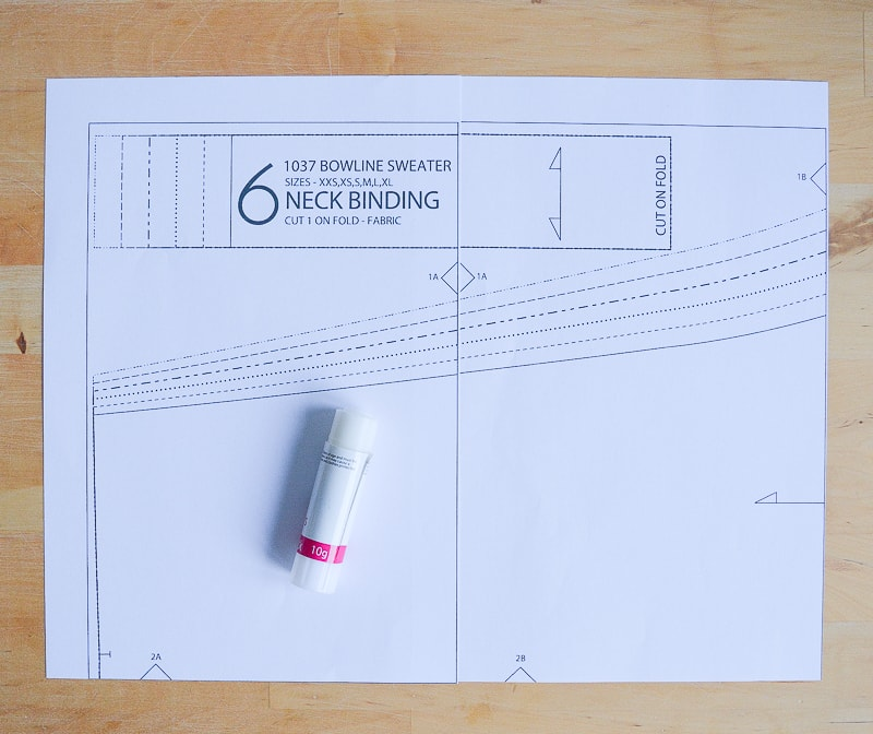 How to assemble a PDF pattern 4