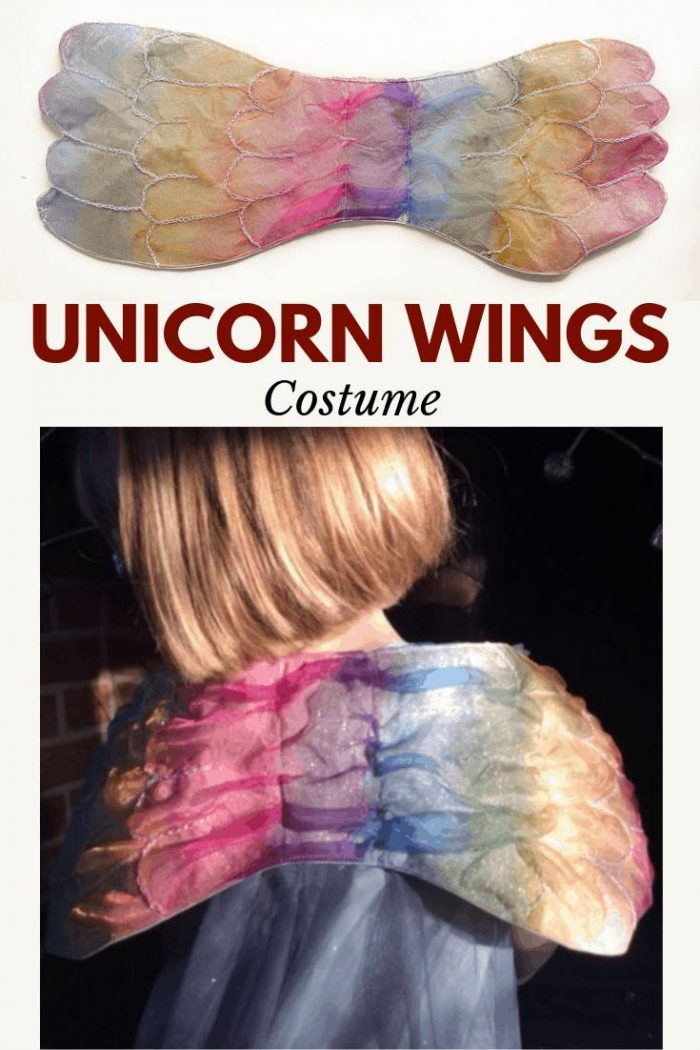 DIY unicorn wings, hand sewn costume perfect for fancy dress. Learn how to make unicorn wings with this tutorial. #unicornwingscostume #DIYUnicornwings