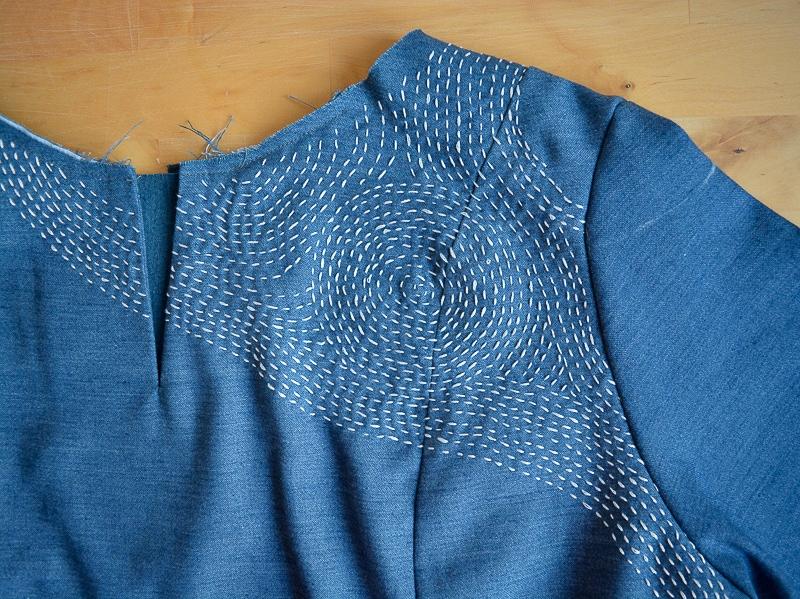 Sashiko Inspired Dress 14