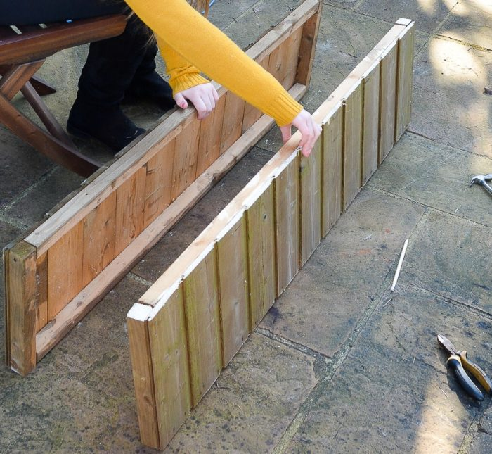 DIY Garden planters - upcycle your old garden shed 16