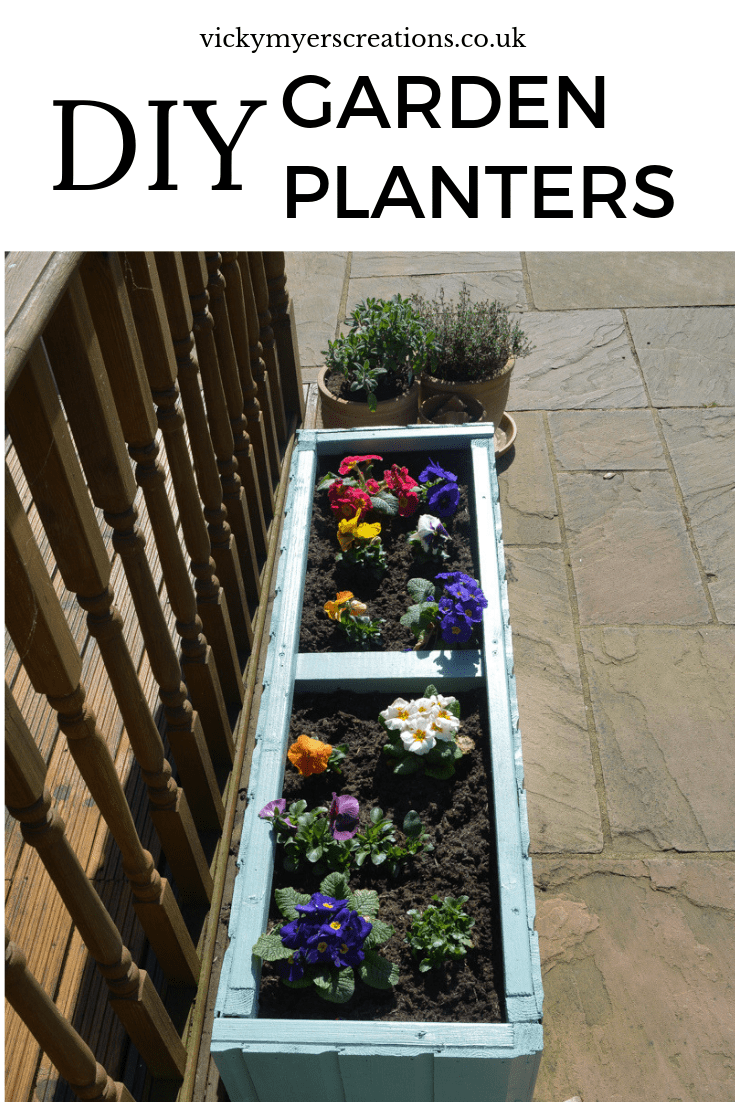 Learn how to make these easy DIY wooden garden planters. Recycle your old garden shed into these awesome deep garden planters, perfect for flowers or vegetables #DIYgardenplanter