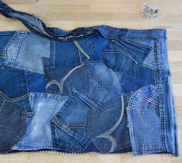 How to make a doormat using old jeans 16