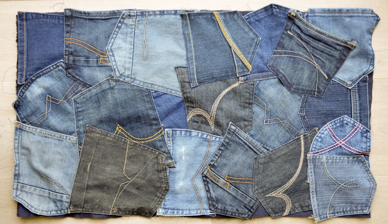 How to make a doormat using old jeans 10
