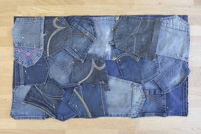 How to make a doormat using old jeans 6