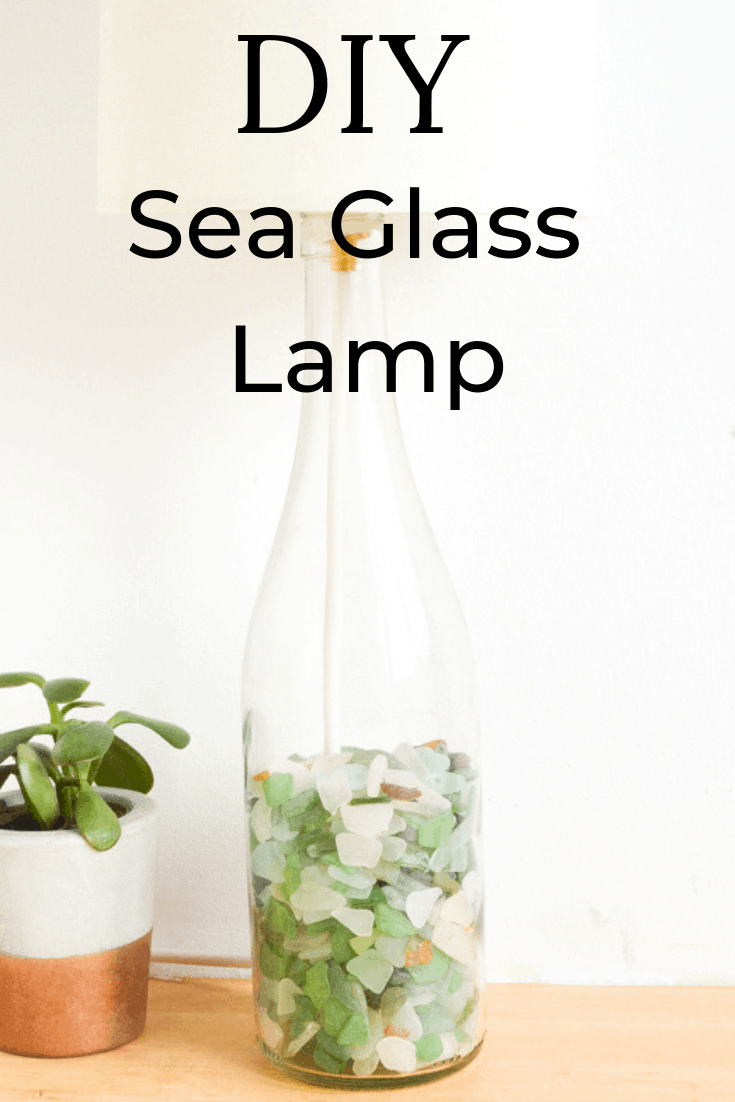 How to make a lamp from a glass bottle 2