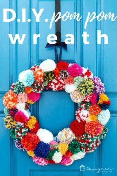 bright easy pompom wreath