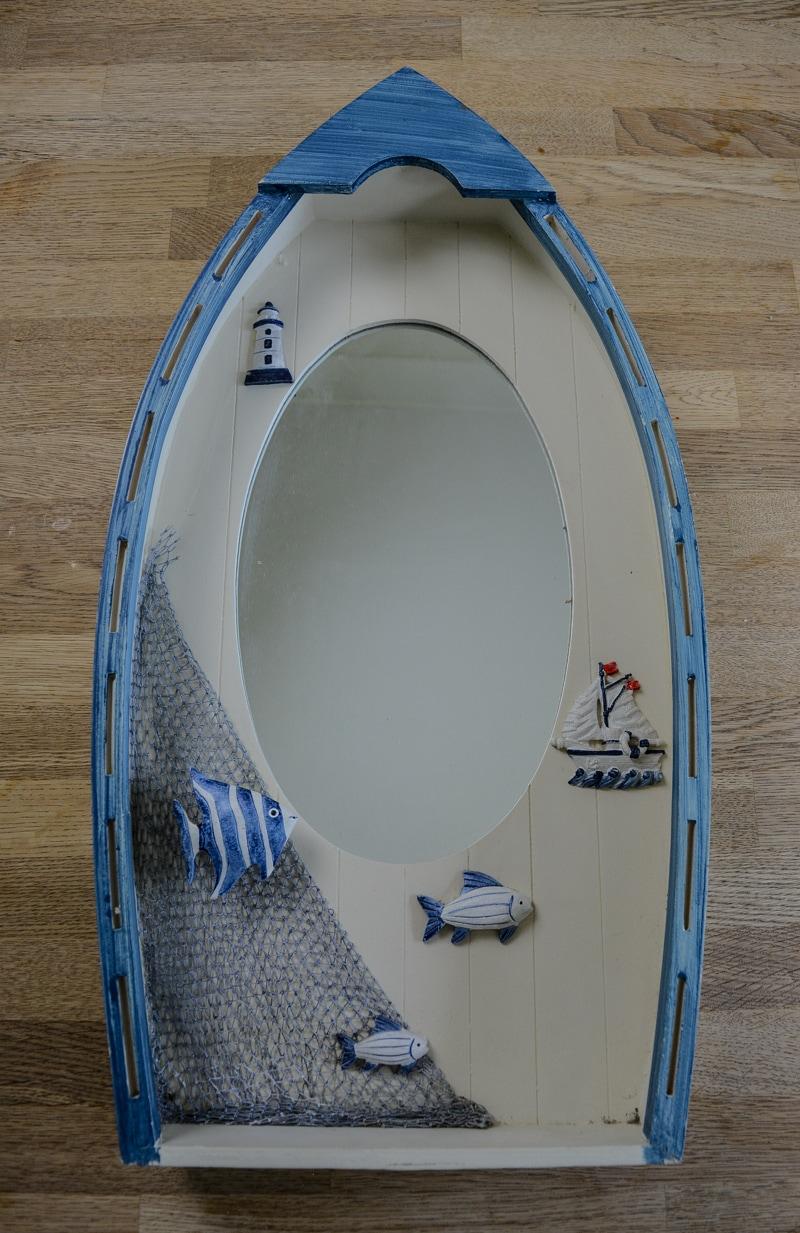 Easy DIY Sea Glass Mirror - beach themed decor 8