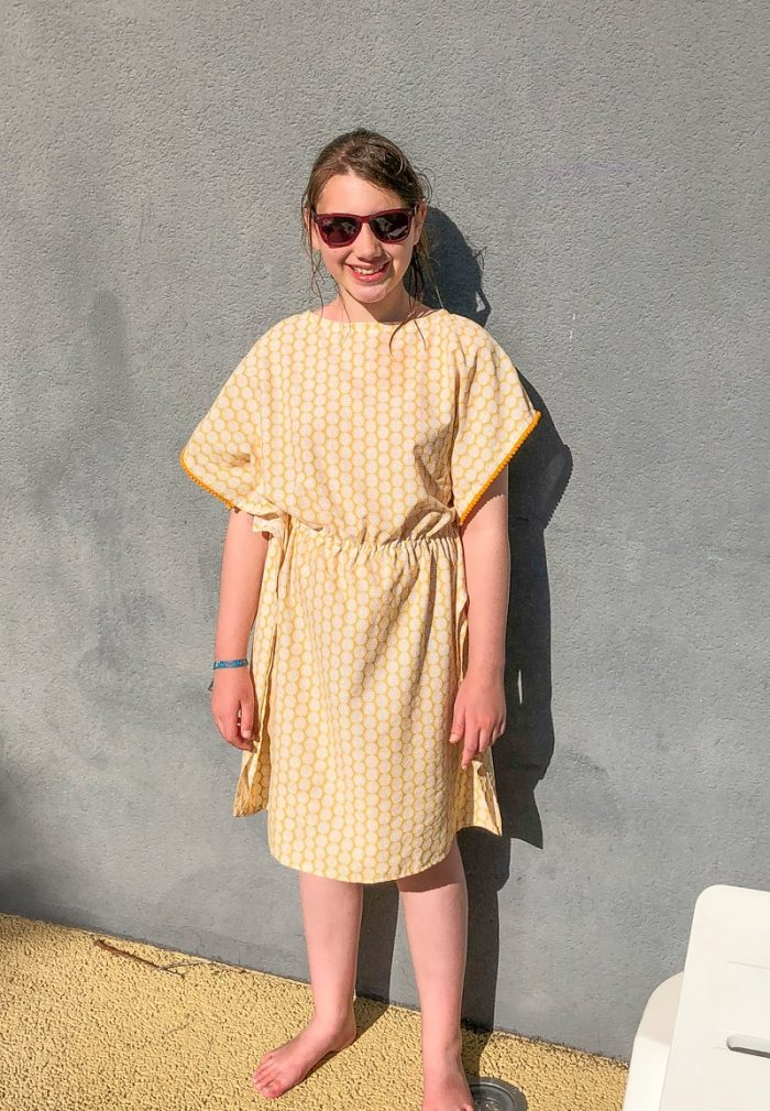Learn how to make a DIY beach cover up dress, using a dress in your wardrobe as a template make your own DIY bathing suit cover up