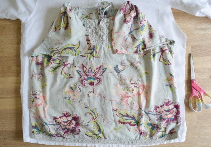 Mens button down shirt refashion - womens off the shoulder top 12