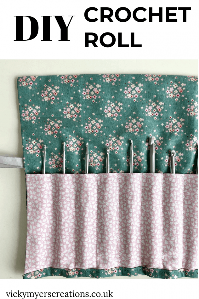 Easy Crochet Hook Roll Pattern - free pattern for fat quarters 8