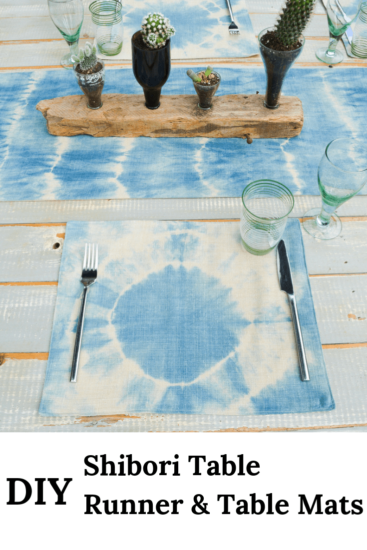 How to sew a table runner - DIY shibori table runner 6