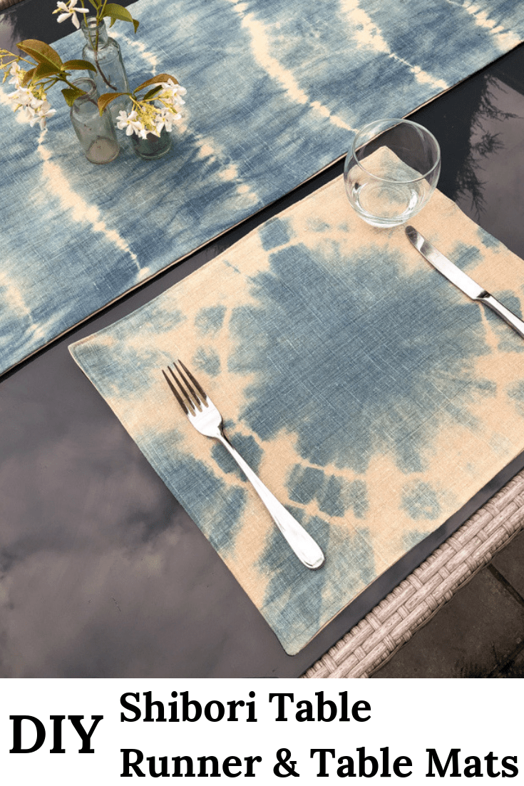 How to sew a table runner - DIY shibori table runner 30