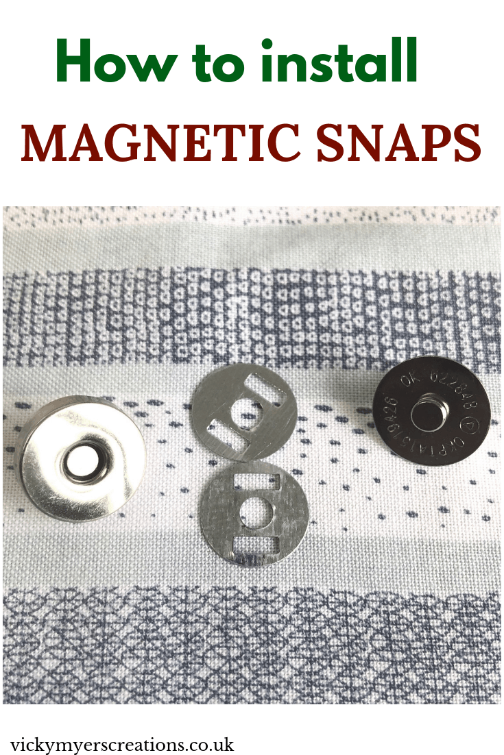 How to attach magnetic snaps 2