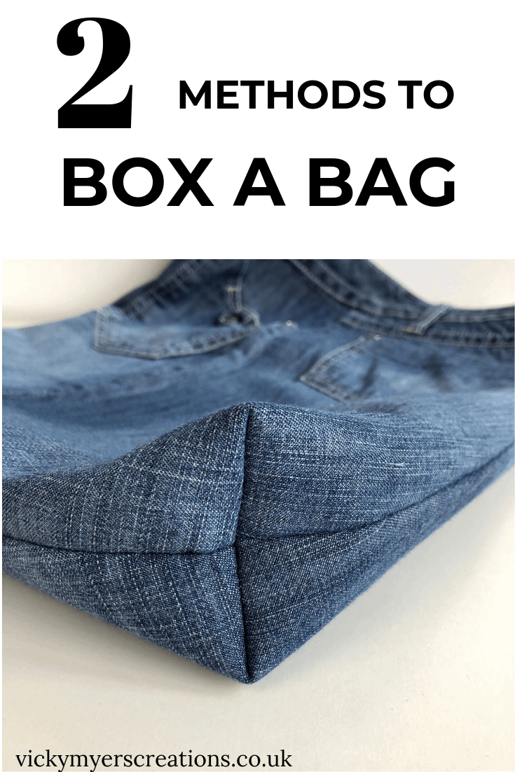 How to box the corner of a bag: Two methods 2