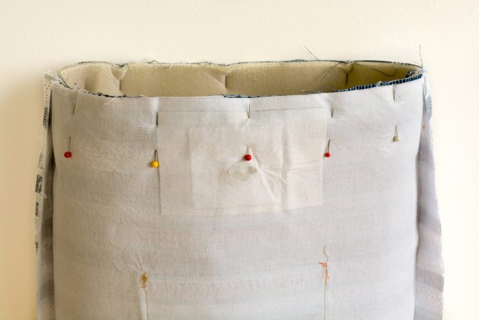 How to make a tote bag with lining, complete with tablet pocket 40