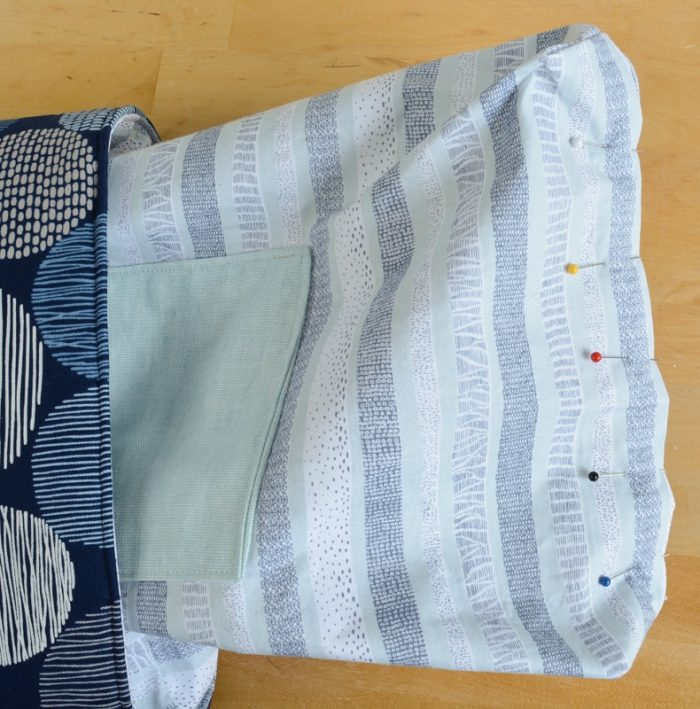 How to make a tote bag with lining, complete with tablet pocket 44