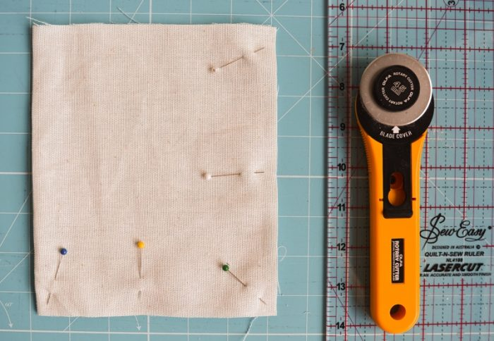 How to make a tote bag with lining, complete with tablet pocket 10