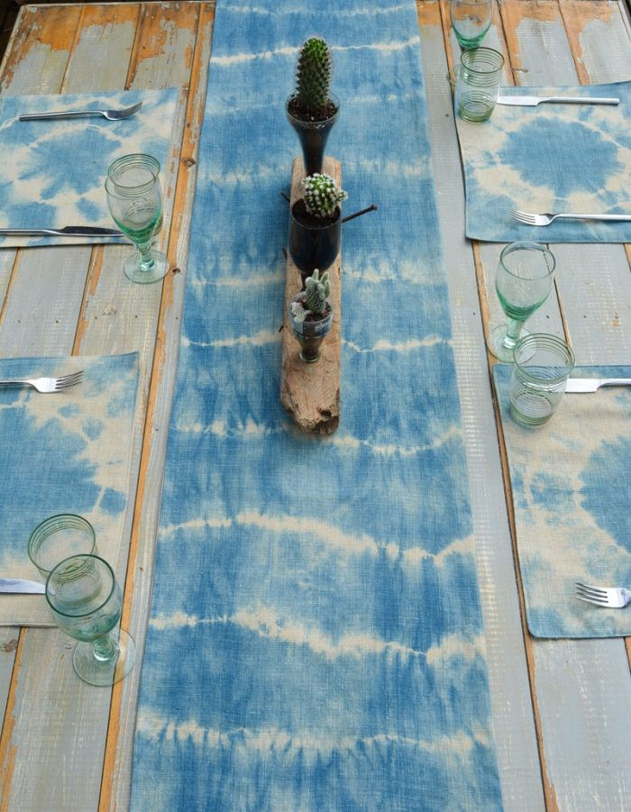 How to sew a table runner - DIY shibori table runner 4
