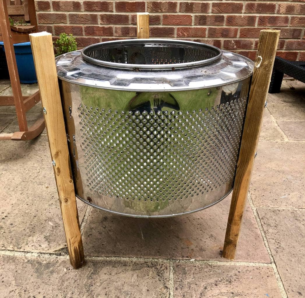 DIY Coffee Table made with an upcycle washing machine drum 18