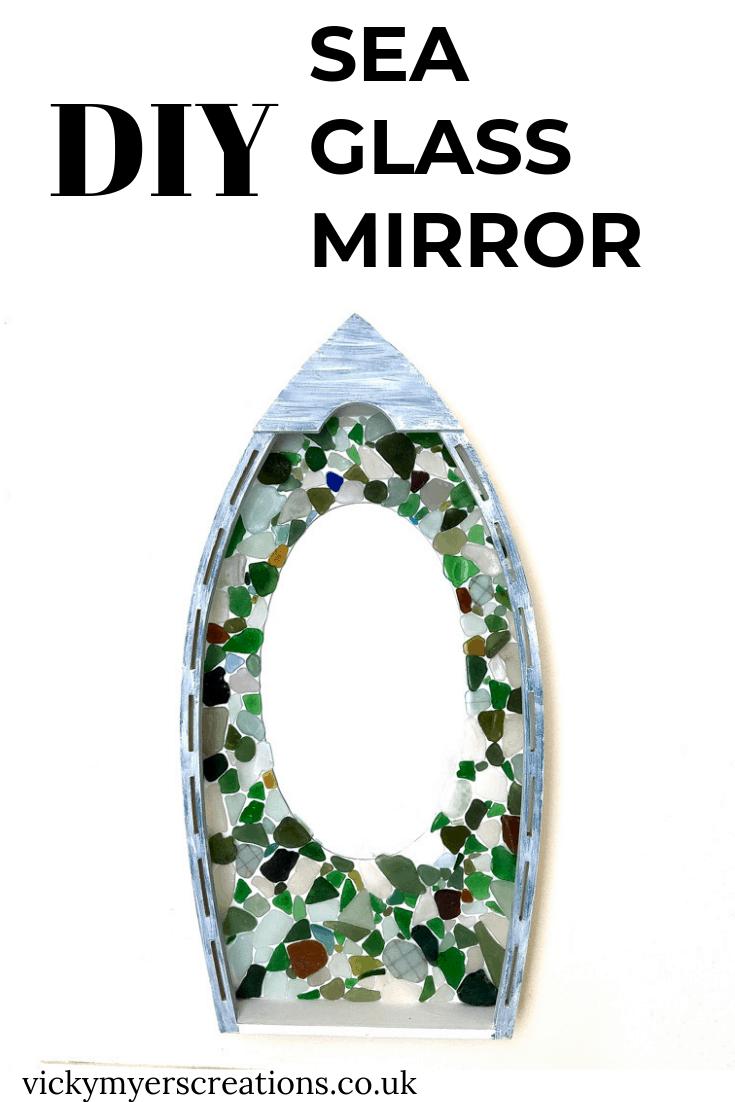 Easy DIY Sea Glass Mirror - beach themed decor 4