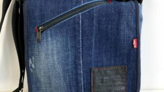 Easy DIY messenger bag - free denim bag pattern