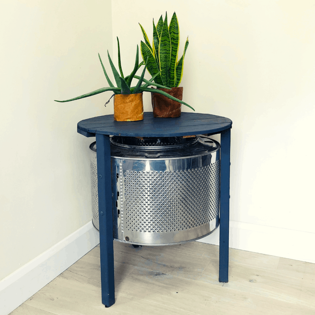 DIY Coffee Table made with an upcycle washing machine drum 24