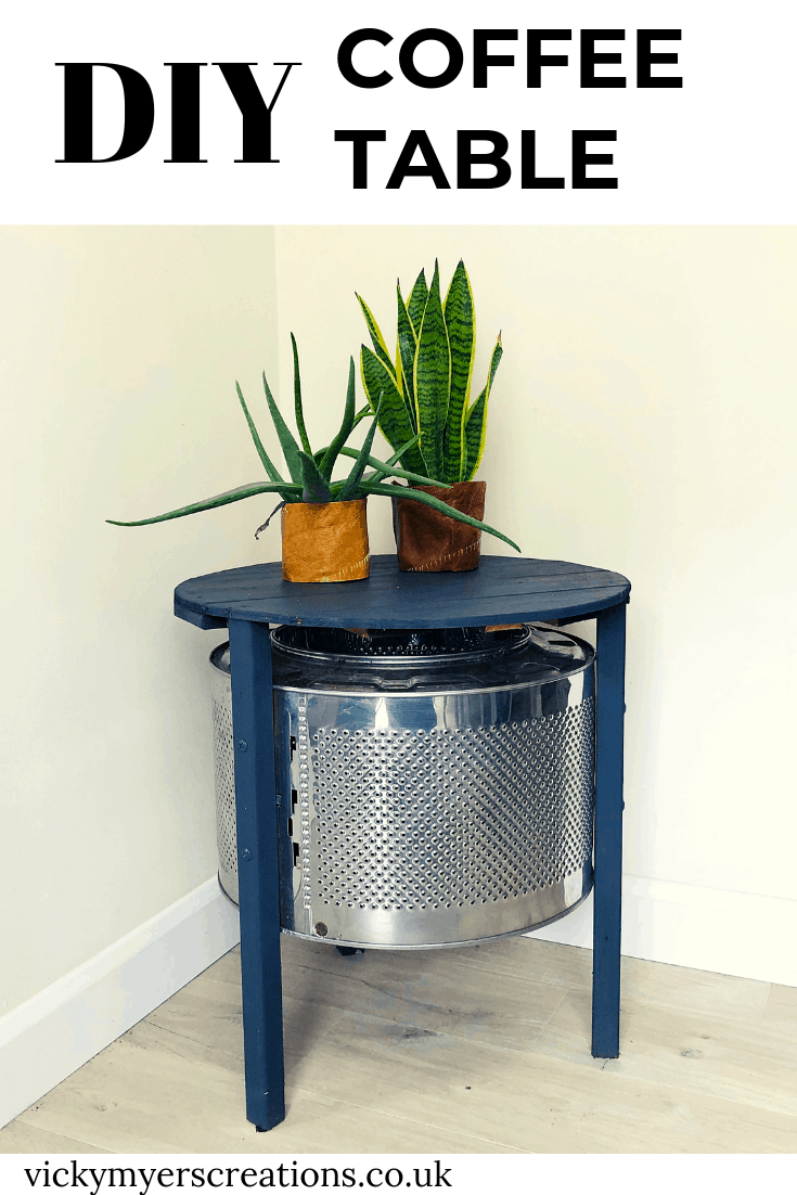DIY Coffee Table made with an upcycle washing machine drum 2