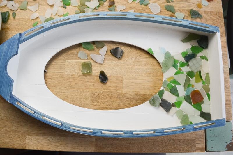 Easy DIY Sea Glass Mirror - beach themed decor 16