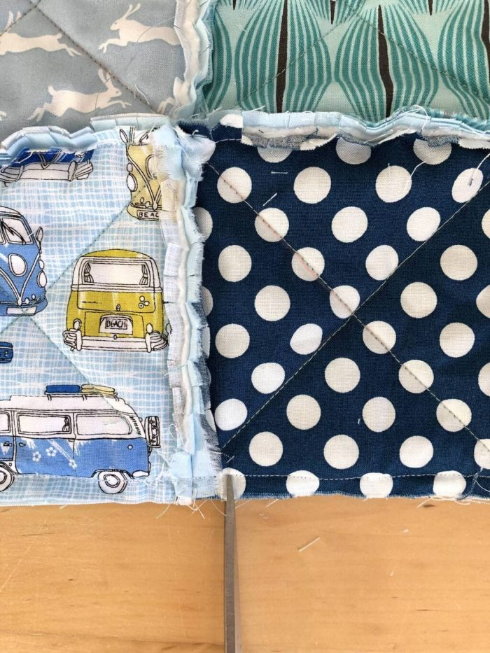 How to make a baby rag quilt 20