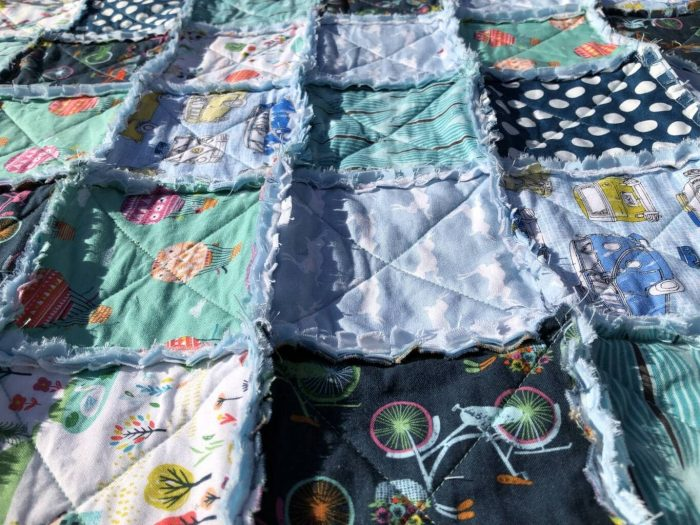 How to make a baby rag quilt 22