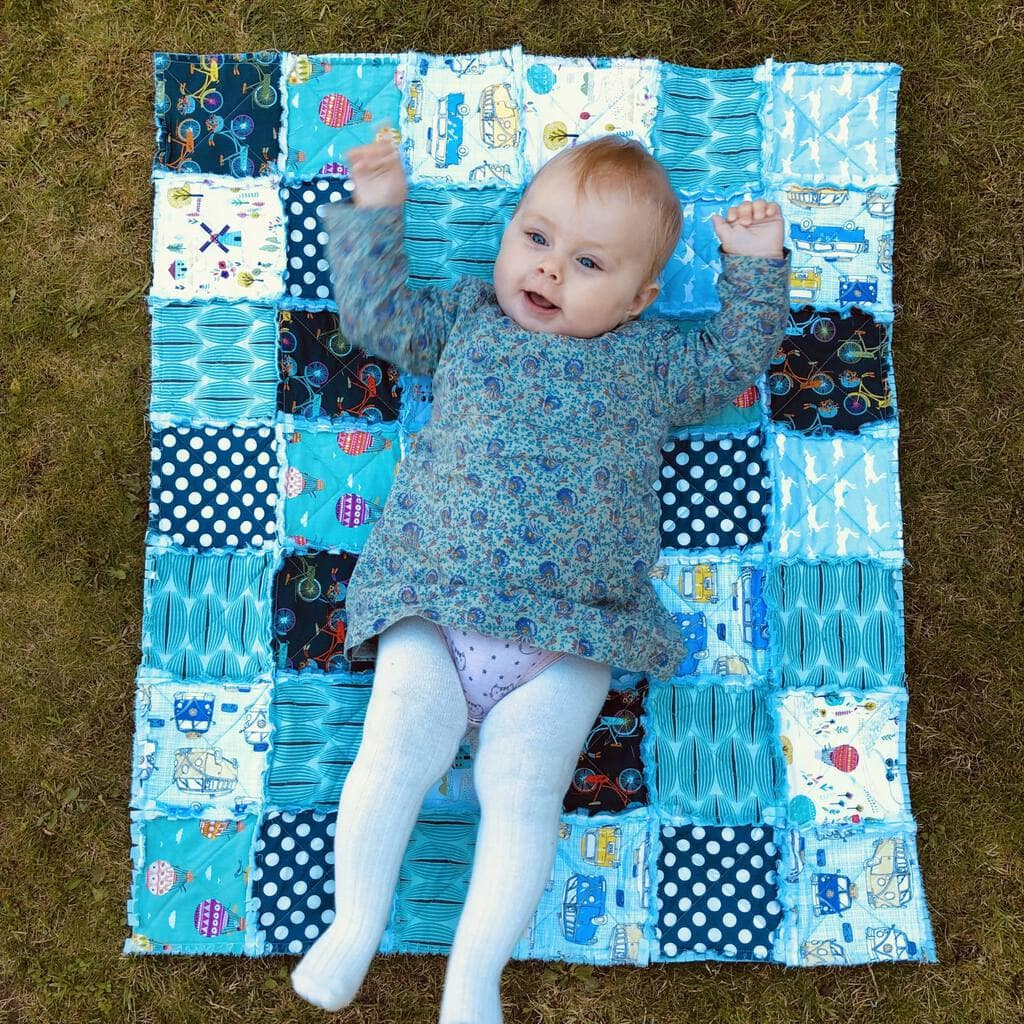 How to make a baby rag quilt 6