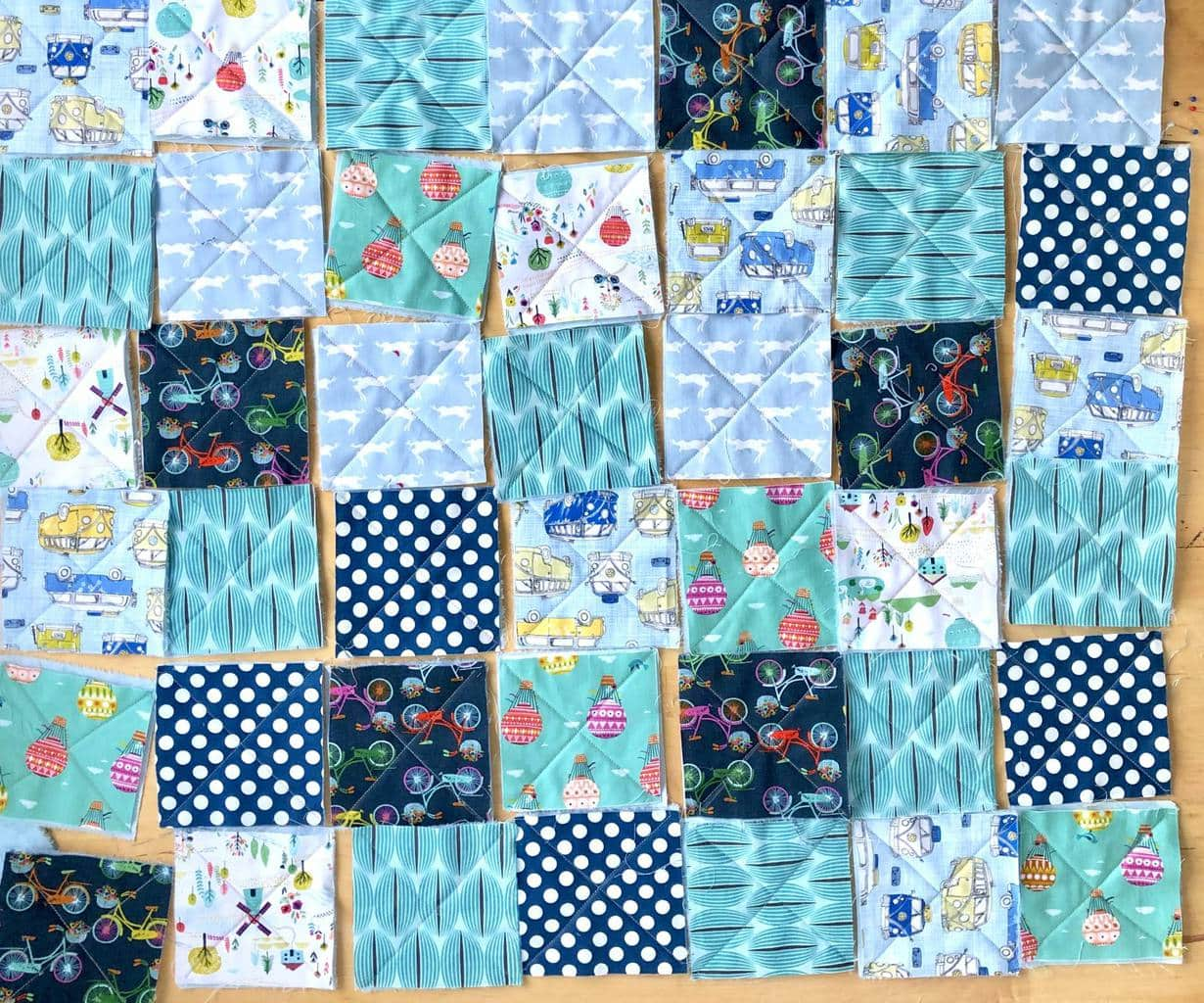 How to make a baby rag quilt 16