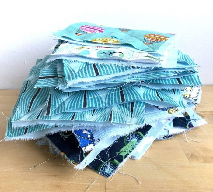 How to make a baby rag quilt 14