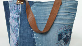 Sashiko-Inspired Denim Tote Bag Pattern