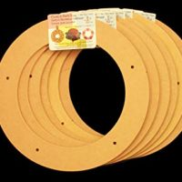 """6 Pack, 9"""" Biodegradable Floral Craft Ring, Ez Glueable Wreath Form, for Photo Frame, Candle Ring, Etc"""