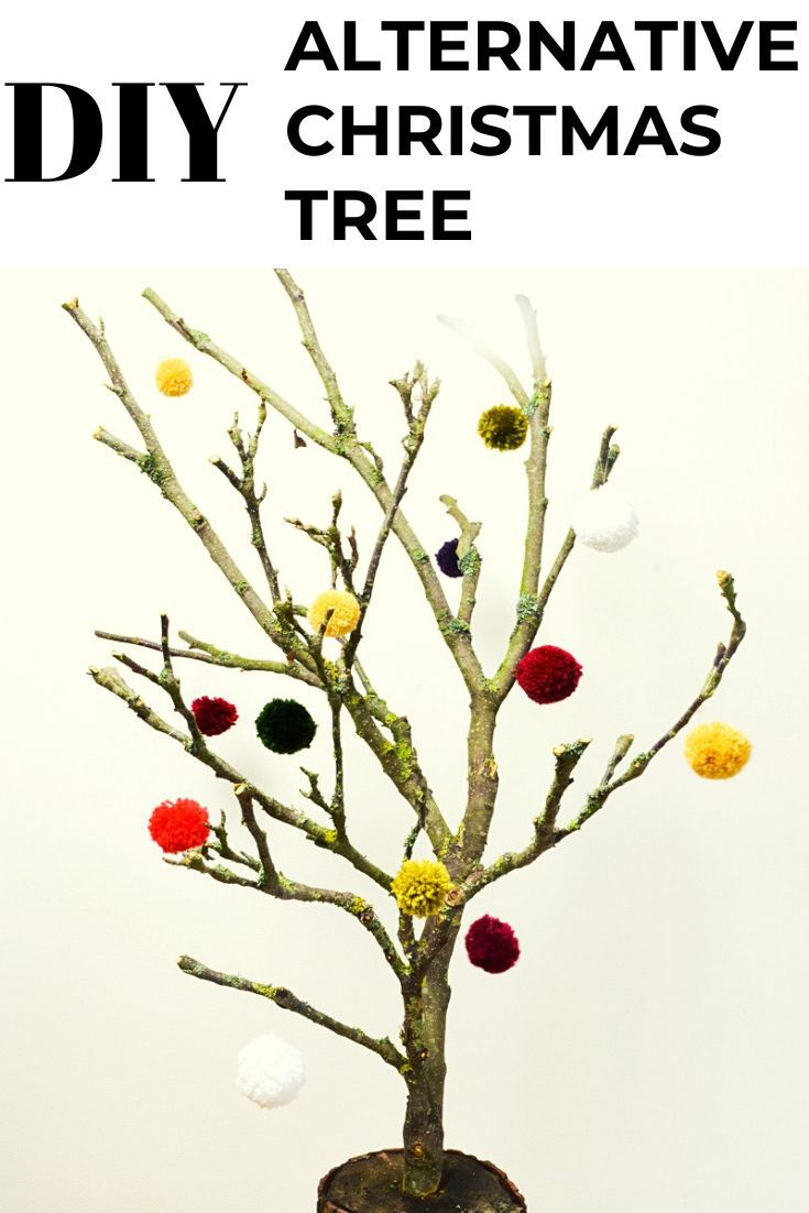 Alternative Christmas Tree from tree branches 6