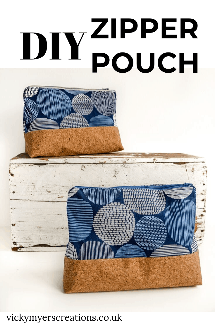 How to make a zippered pouch tutorial flat bottom 2
