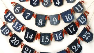 How to make an advent calendar out of old jeans