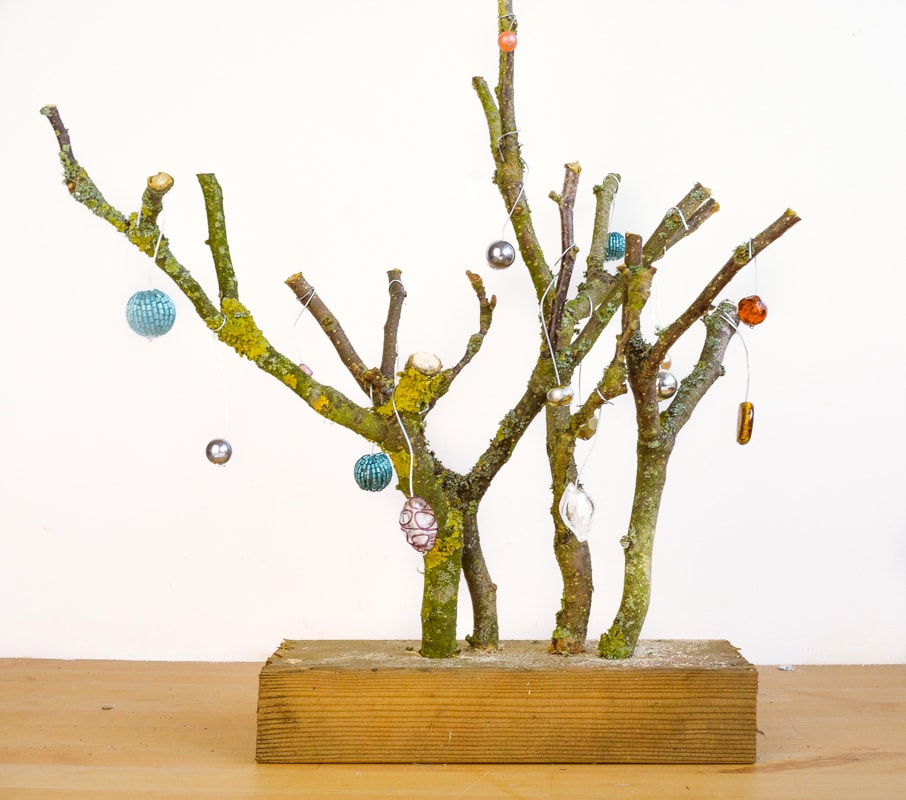 Alternative Christmas Tree from tree branches 24