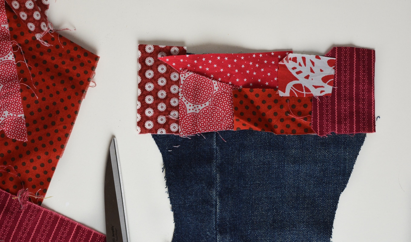 How to make a Christmas stocking, free stocking template 12